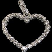 .6CTW Diamond Accented Platinum Heart Pendant Charm