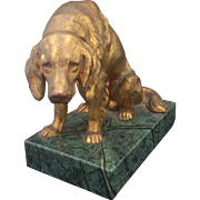 Vintage Art Deco Jennings Bros Golden Retriever Dog Sculpture