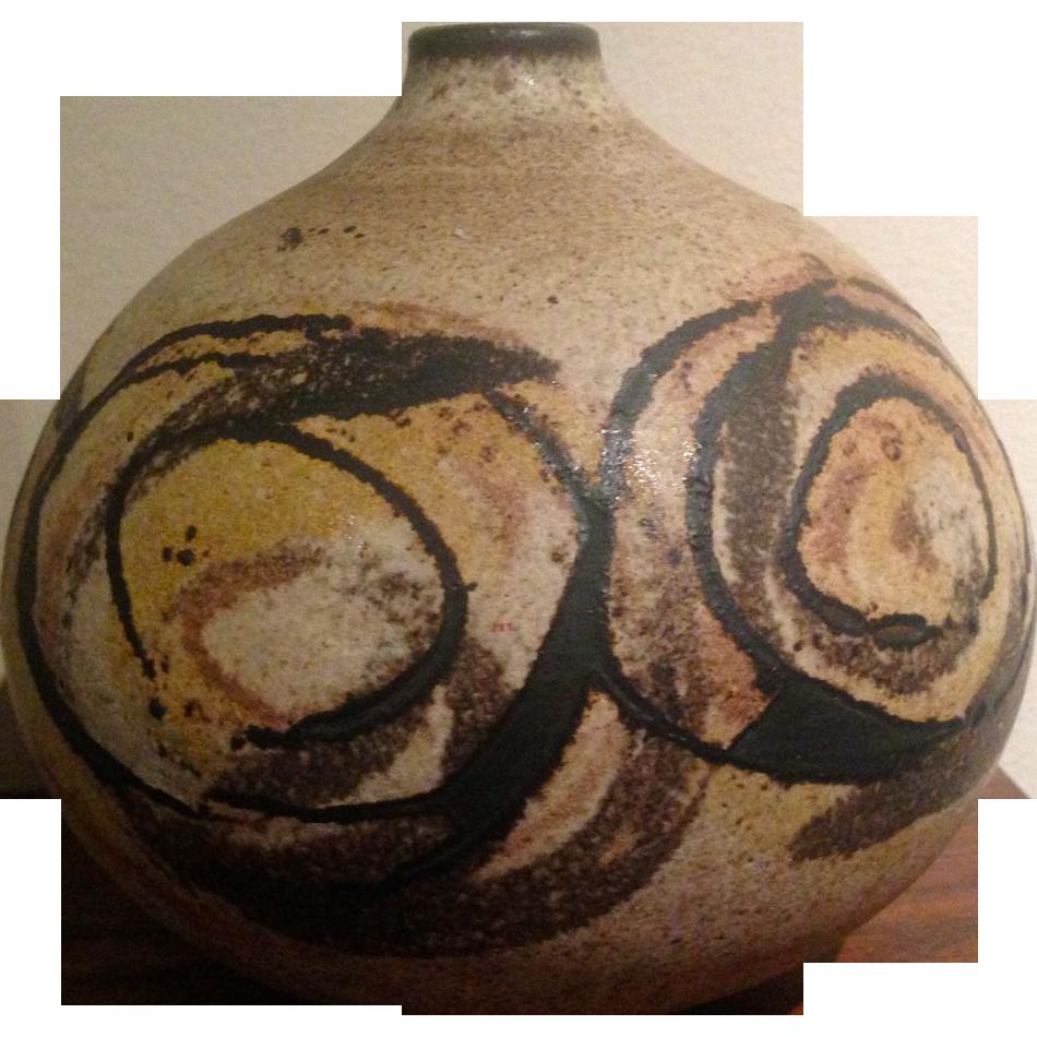 Mid century modern clyde burt studio pottery vase pearce fox mid century modern clyde burt studio pottery vase pearce fox decorative arts ruby lane reviewsmspy