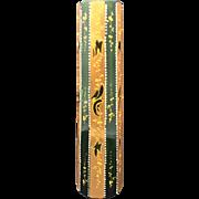 Art Nouveau Moser Gold Enameled Vase