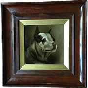 English Bulldog Sherwin & Cotton Framed Tile Plaque