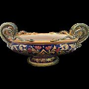 Large Vintage Italian Lustre Console Bowl