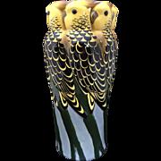 Art Deco Wiener Werkstatte Pottery Parrot Vase