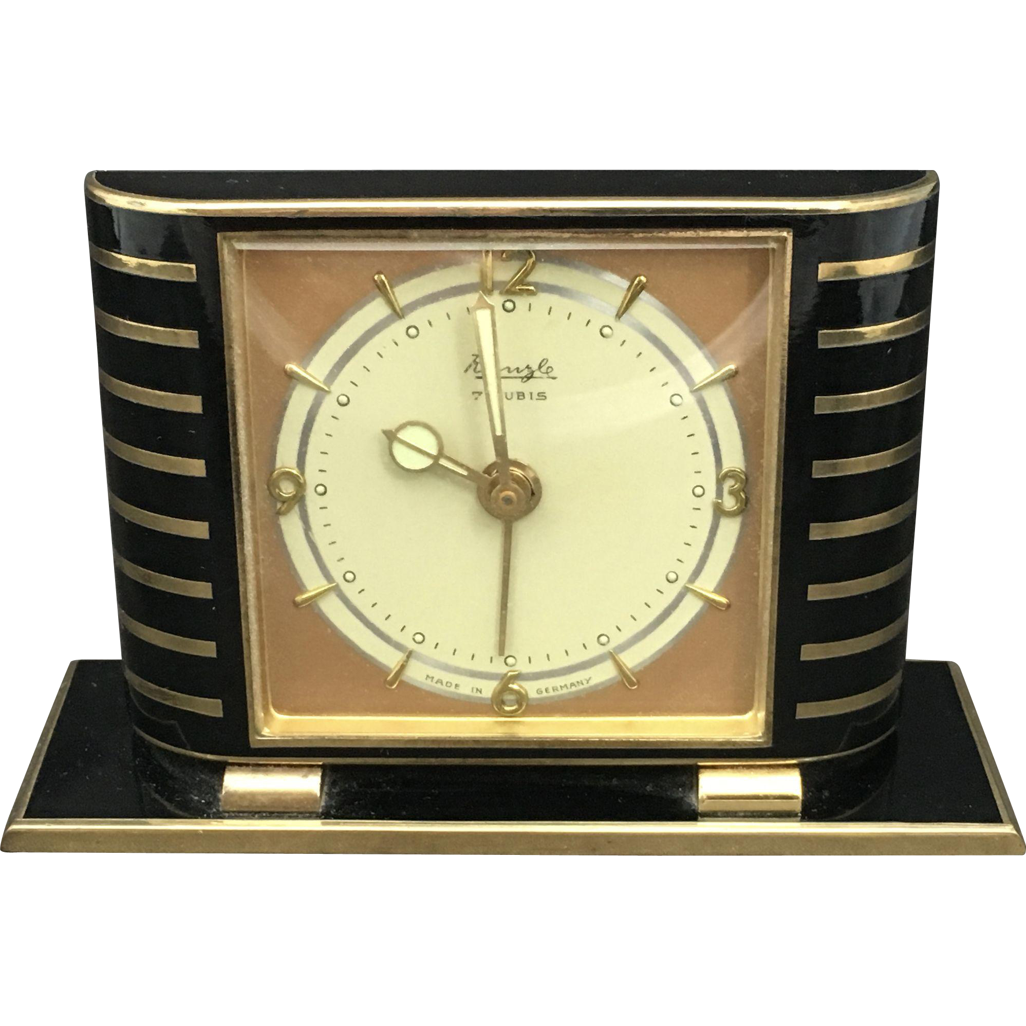 Art deco kienzle table alarm clock from Art deco alarm clocks