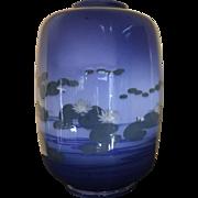 Rookwood Shirayamadani Water Lily Vase RARE !!