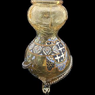 Art Nouveau Bohemian Moser Snake Vase