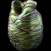 Art Nouveau Bohemian Kralik Cardiac Vase