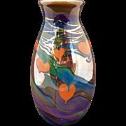 Modern Lundberg Heart / Vine Vase / 1972