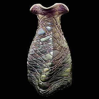 Art Nouveau Bohemian Palme Koenig Vase