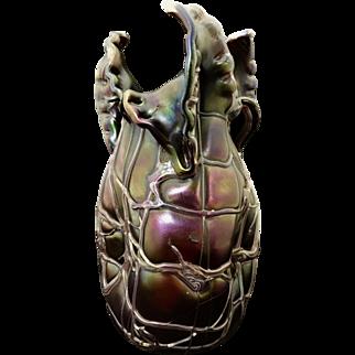 Art Nouveau Palme Koenig Bohemian Glass Vase
