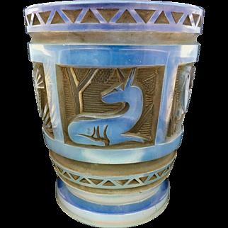 Art Deco French Model Glass Vase