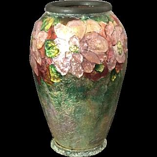 Art Deco Camile Faure Enamel Vase