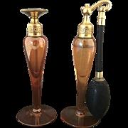 Pair of De Vilbiss Perfume Glass Bottles