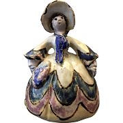 Overbeck Southern Bell Art Pottery Figure