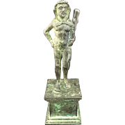 Vintage Grand Tour Bronze Zeus Paperweight Sculpture