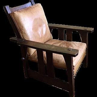 Early Gustav Stickley Morris Chair 1902