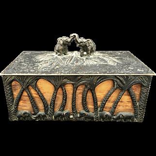 Art Deco Austrian Bonze Elephant Box