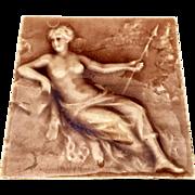 Art Nouveau American Encaustic Tiling Co. Nude
