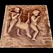 American Encaustic Tiling Co. Art Nouveau Tile Boys and Deer