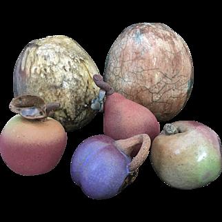Modernist Studio Pottery Fruit Sculpture