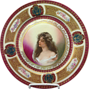 Antique Art Nouveau Handpainted Austrian Plate
