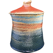 Modernist Studio Pottery Rainbow Vase
