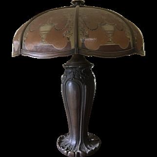 Large Art Nouveau Bradley & Hubbard Lamp