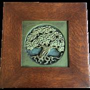 Art Nouveau Rookwood Tree of Life Plaque