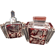 Pair of Art Deco Karlovy Vary Czech Perfumes