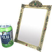 Hollywood regency Jeweled Frame