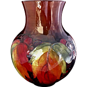 Large Bulbous Moorcroft Leaf & Berry Flambe Vase