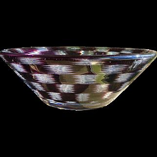 Mid Century Orrefors Graal Hald Bowl