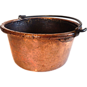 Handmade French  Solid Copper Cauldron
