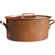 Enormous Antique Copper French Stew Pot