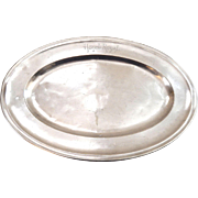 French Christofle Silver Plated Tray from the 'Hotel Royal' Evian-les-Bains dated 1911