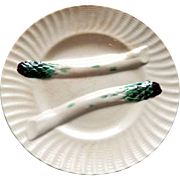 French Asparagus Plate in Majolica Creil et Montereau