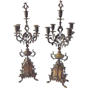 Pair of High Quality Bronze Antique French Candelabra