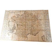 Antique Map of France Rare Folding Map from 1783