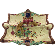 Majolica Berry or Asparagus Server French or possibly Austrian