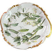 French Cake Plate or Serving Dish from the maker Haviland of Limoges.