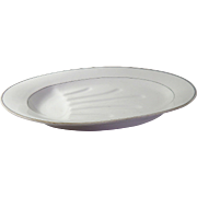 Large and Heavy Porcelain Platter in Creamy White