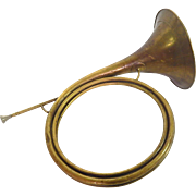 Antique French Brass Hunting Horn