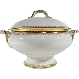 Fine French Antique  White Porcelain Soup Tureen c1890