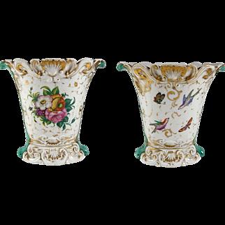 French 'Porcelaine de Paris' Hand Painted Vase 19th Century