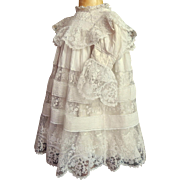 French EDWARDIAN Era Handmade Dress for Baby with lots of Lace