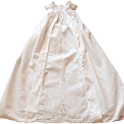 Elegant Antique Ayrshire Christening Gown Handmade with Exceptional Embroidery