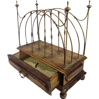 French Antique Rack from a Turn-of-the-Century Pharmacy