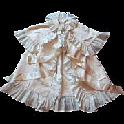 Lord Harlech's  English Edwardian Christening Cloak in Cream Silk c.1918