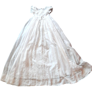 Elegant Vintage French Christening Gown with Masses of Hand Embroidery w/ Petticoat c.1890-1910