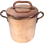 Charming Small Antique Copper French Daubiere or Stew Pot 19th cent.